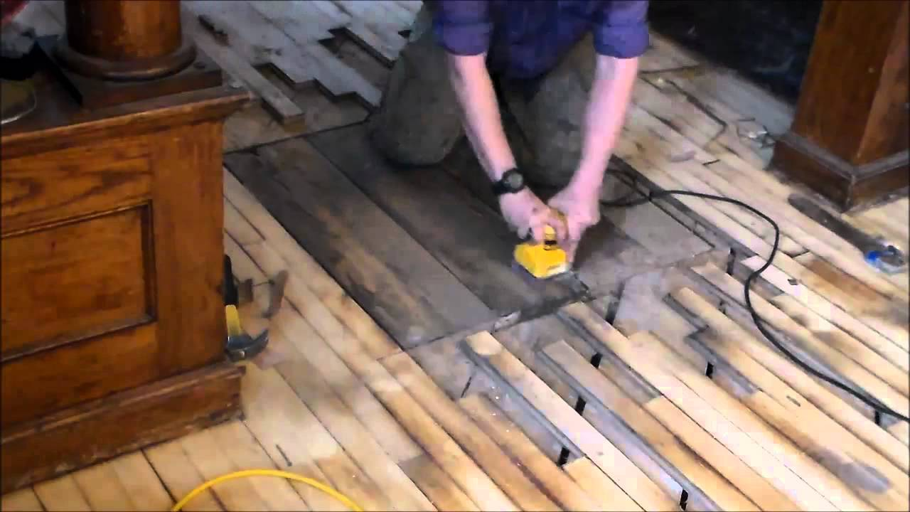 patching old furnace vent in a wood floor - youtube