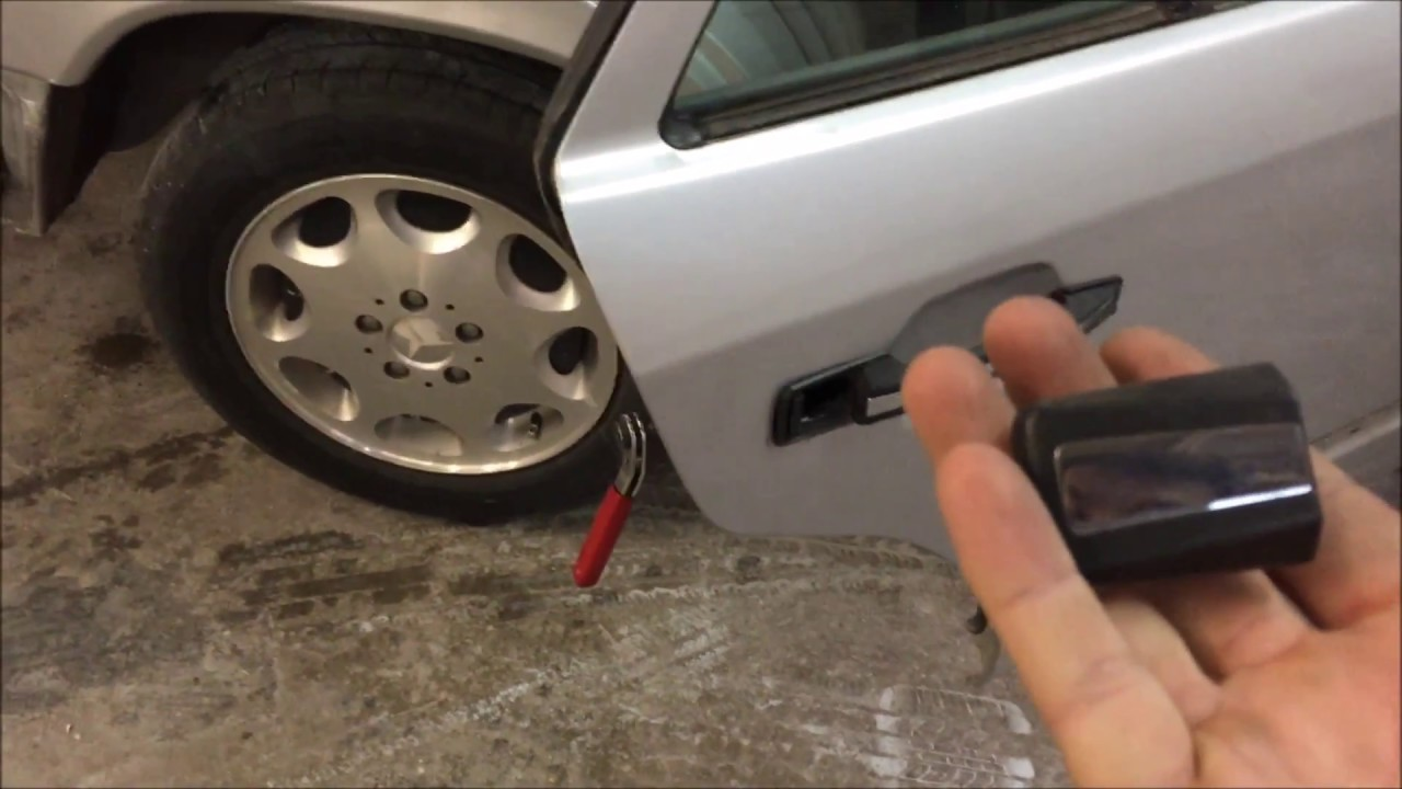 Diy mercedes w124 how to remove exterior rear door handle - How to remove exterior door knob ...