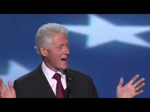 President Bill Clinton at the 2012 Democratic National Convention