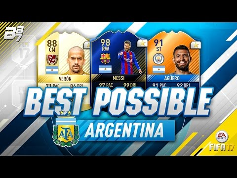 BEST POSSIBLE ARGENTINA TEAM! w/ TOTY MESSI AND VERON! | FIFA 17/ TOP ELEVEN
