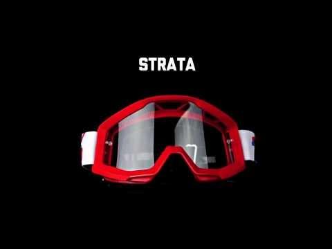 伊摩多※美國 100% Strata Furnace 紅框紅帶(電鍍紅片) 越野 滑胎 護目鏡 防霧 基本款50410