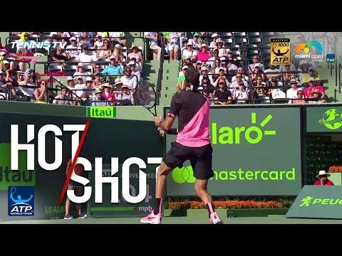 Hot Shot: Del Potro Flicks No-Look Backhand Winner In Miami 2018