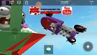Playing Roblox doctor zombie slime slide
