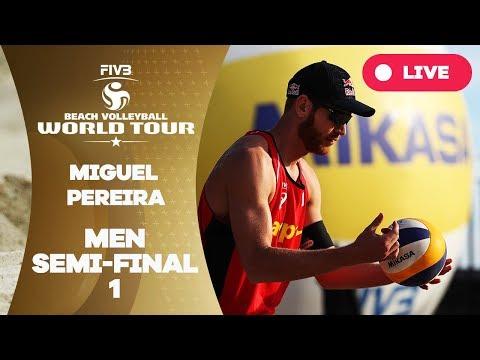 Miguel Pereira 1-Star - 2018 FIVB Beach Volleyball World Tour - Men Semi Final 1