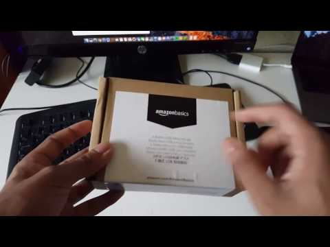 20423866f3a $6.99 AmazonBasics 3-Button USB Wired Mouse (Black) Unboxing & Setup -  YouTube