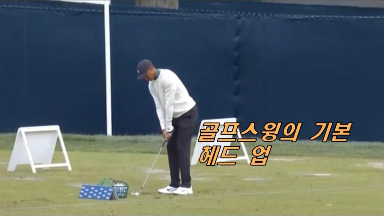 Head up[Golf swing의 기본]