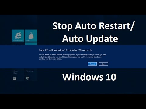 how to turn off windows update auto restart