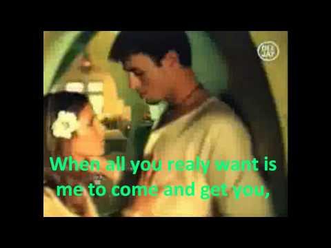 Ring my bells   Enrique Iglesias Lyrics on screen