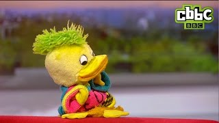 Edd the Duck and Andy Crane on BBC Breakfast