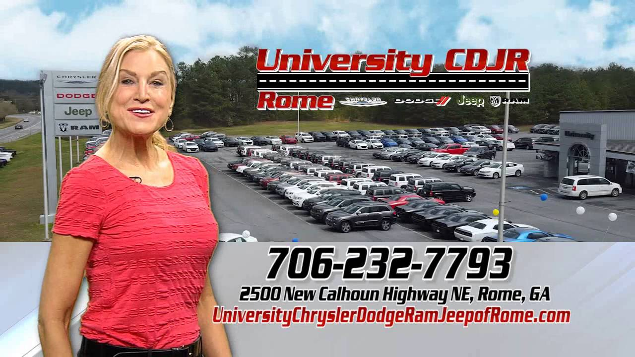 University Chrysler Dodge Jeep Ram of Rome, Georgia - YouTube