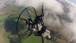 Парение и полёт над облаками на парамоторе АЛЬТАИР-100М / Thermal soaring on ALTAIR-100M paramotor