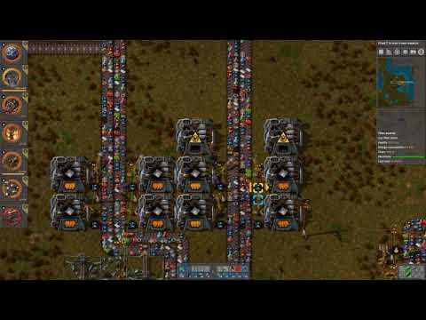 Factorio Single Belt - 008 Iron smelting and copper mining