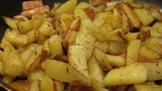 Жареный картофель с хрустящей корочкой