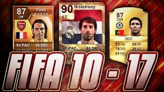 FIFA 10-17 CURRENT LEGENDS! HOW THEY CHANGED IN FUT! #1