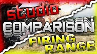 Black Ops 2 | Firing Range & Studio Side-by-Side Comparison (BO2 Uprising Map Studio)