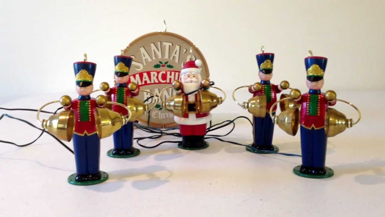 mr christmas santas marching animated musical band youtube