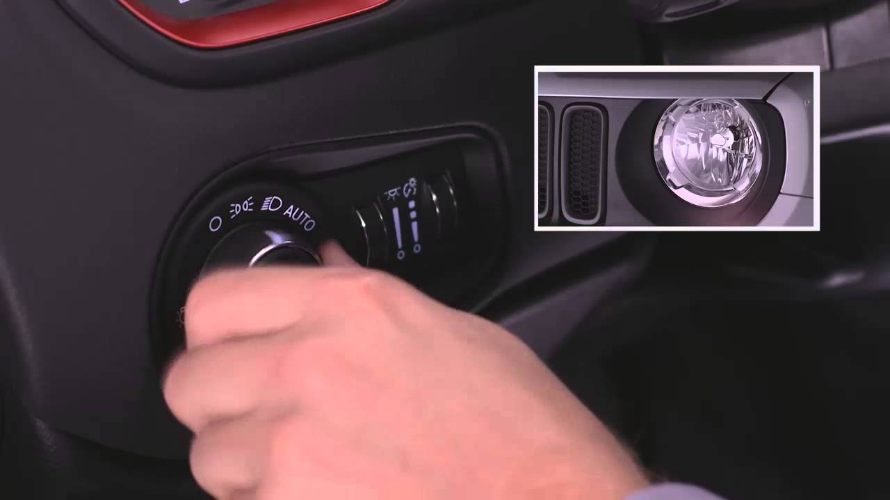 2015 Jeep Renegade Headlight Control Switch Youtube