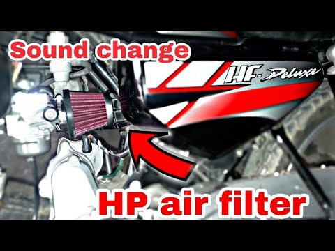 How to install hp air filter in hf deluxe and any bike  hf deluxe modification.