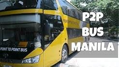 Toilet on a bus? Premium P2P in Manila!