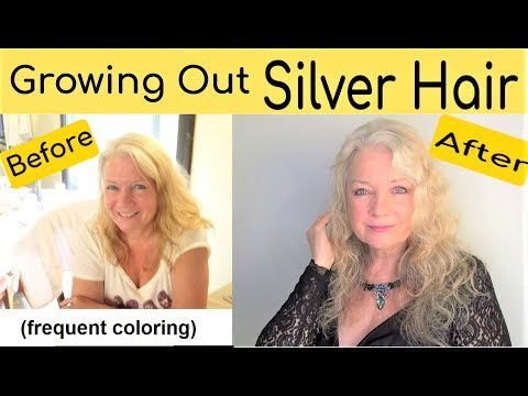 How to Grow Out Women's Silver or White HairStyle, Mature over 50