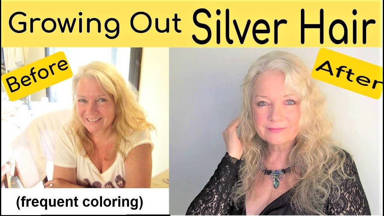 How to Grow Out Women's Silver or White Hair/Style, Mature over 50