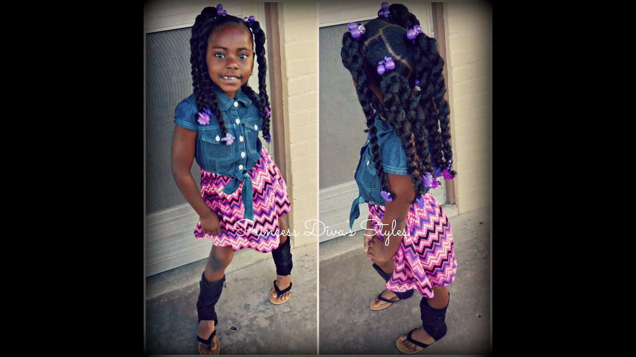 Little Girls Style Using Cuban Twist Hair  OOTD 3716  YouTube