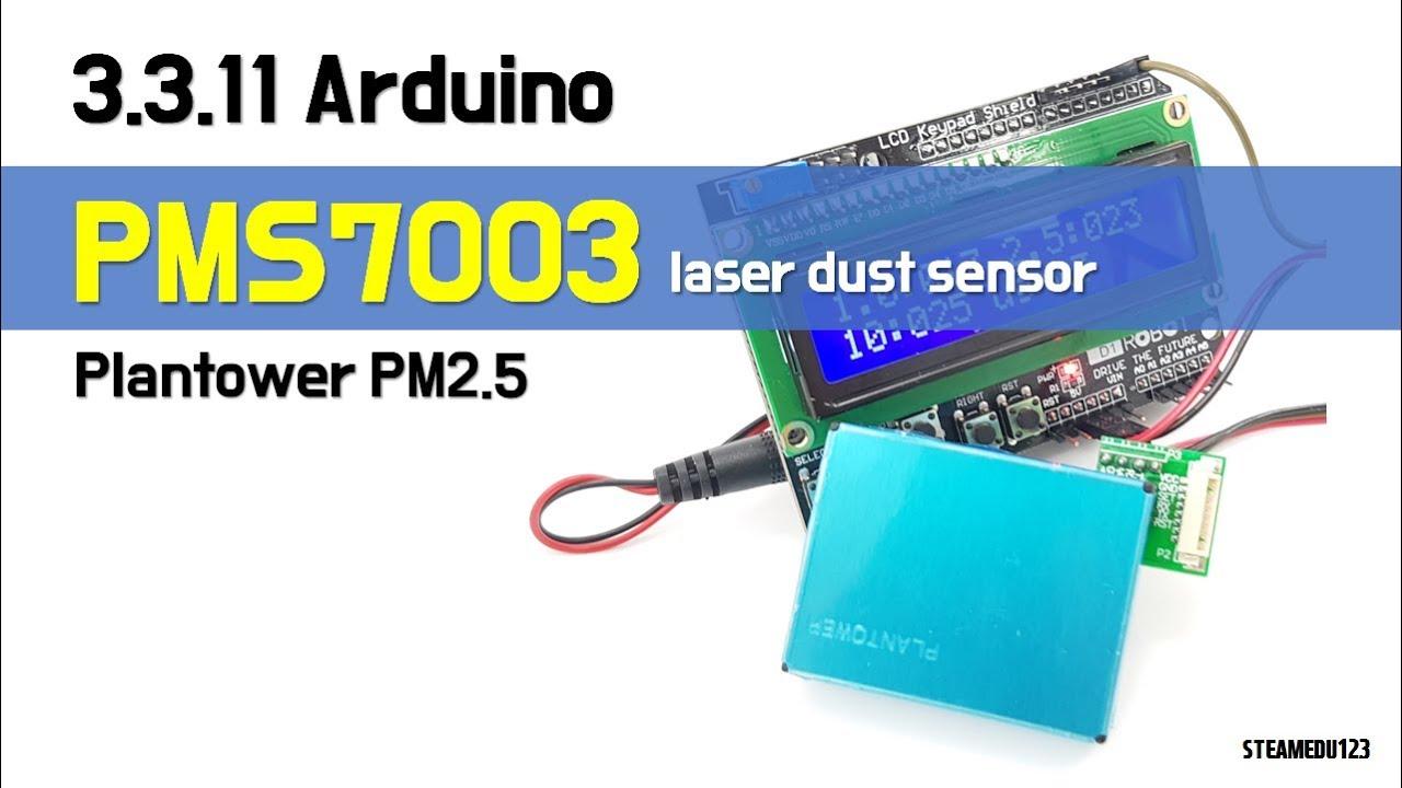 3 3 11  [SENSOR] ♡ Arduino Plantower PM2 5 PMS7003 Dust sensor