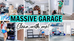 MASSIVE CLEAN WITH ME!!!   EXTREME CLEANING MOTIVATION   GARAGE CLEANING AND ORGANIZING