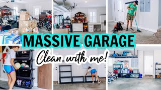 MASSIVE CLEAN WITH ME!!! | EXTREME CLEANING MOTIVATION | GARAGE CLEANING AND ORGANIZING