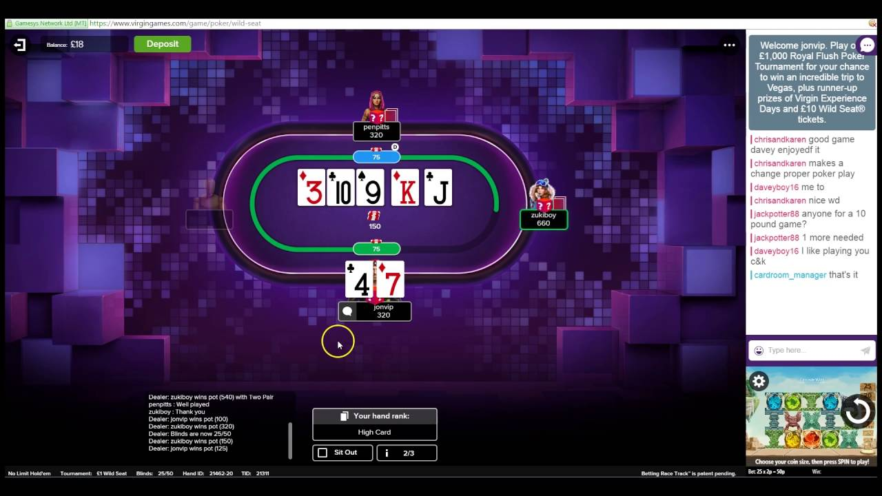 How To Crush Virgin Wild Seat Poker  The Ultimate Soft Money Making Site   Part 2