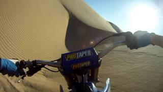 YZ250 Dirt Bike In The Dunes