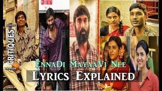 #vadachennaisongs #ennadimaayavinee #vadachennai track: ennadi maayavi nee movie: vadachennai lyrics: vivek singer: sid sriram music: santhosh narayanan chor...