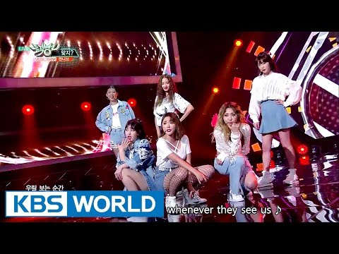 Unnies - Right? | 언니쓰 - 맞지? [Music Bank Hot Debut / 2017.05.12] from YouTube · Duration:  3 minutes 25 seconds