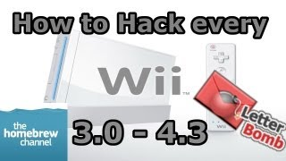 How To Hack Any Nintendo Wii 3.0 - 4.3 - Homebrew Channel - Letterbomb Exploit -  Softwii [HD]