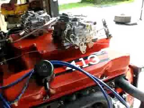Mopar 413 Max Wedge engine on test stand