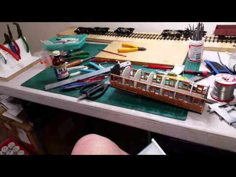 A simple way to fix roofs on kit built model railway coaches