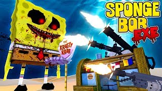 THE MOST SECURE BASE DEFENDS BIKINI BOTTOM FROM SPONGEBOB .EXE - Minecraft