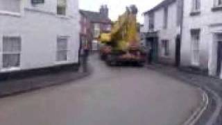 Wem Shropshire Final installment of the crane and the listed buildings