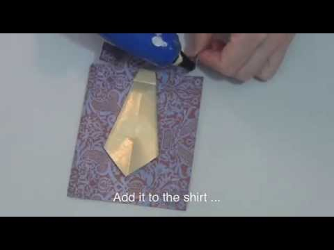 how to make a fathers day shirt card how to make a shirt and tie card for s day 8210
