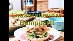 Lauantailounas Kotitekoiset hampurilaiset