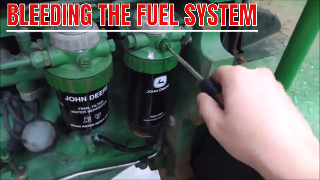 hight resolution of bleeding the fuel system on john deere