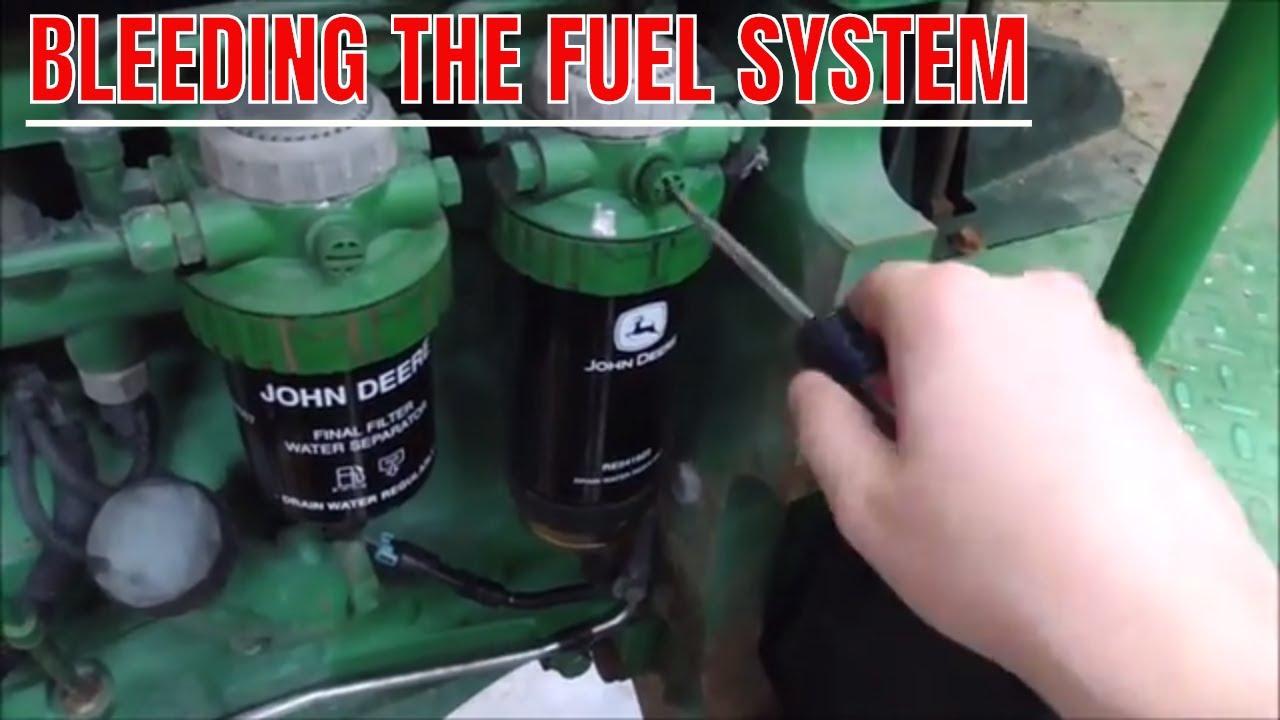 medium resolution of bleeding the fuel system on john deere