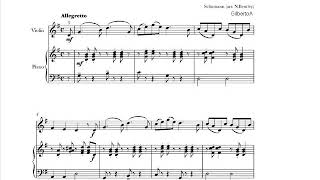 Schumann The Merry Peasant  (Traditional children)   sheet music for Violin & piano accompaniment