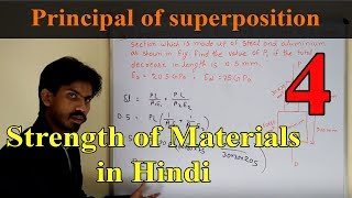 Principal of superposition and deformation of bar | Strength of Materials in  Hindi lecture 4