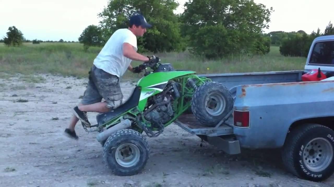 ATV Wheelie Truck Load - Kawasaki Mojave 250 - YouTube