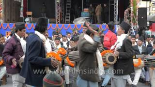 Nepali folks play Madal (Nepali drum) and sing songs - Sikkim