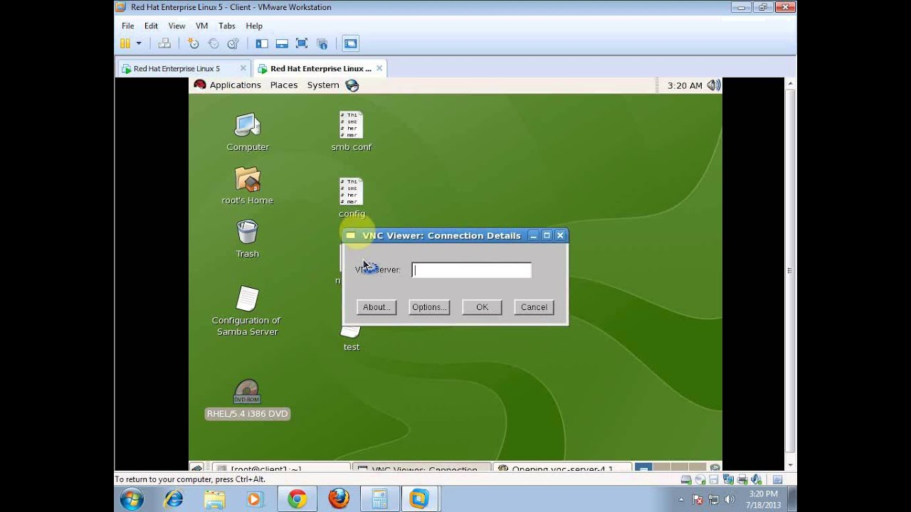 how to configure vnc server in redhat linux