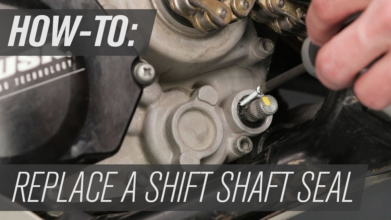 How To Replace A Shift Shaft Seal On A Dirt Bike