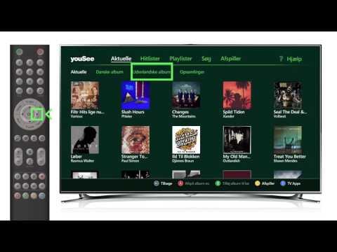 Hør YouSee Musik på dit tv med YouSee Tv