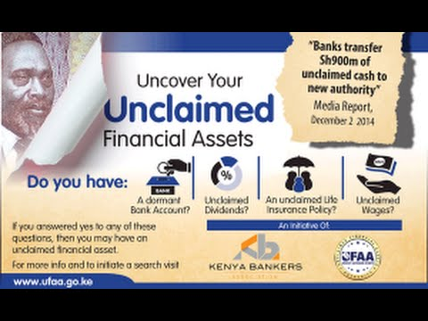 UFAA Kenya - How to search for Unclaimed Financial Assets